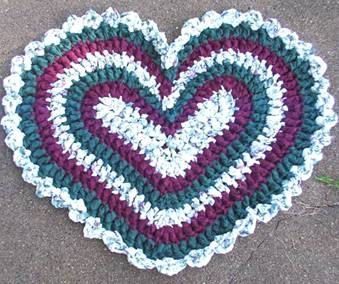 Crochet Heart Original Rag Rug Pattern By Kjbryandesigns On Etsy 5 99