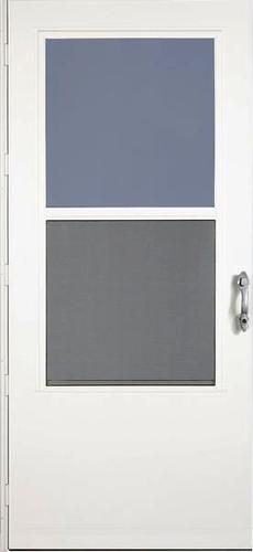 larson titan 36 x 80 white duratech with reversa screen door at