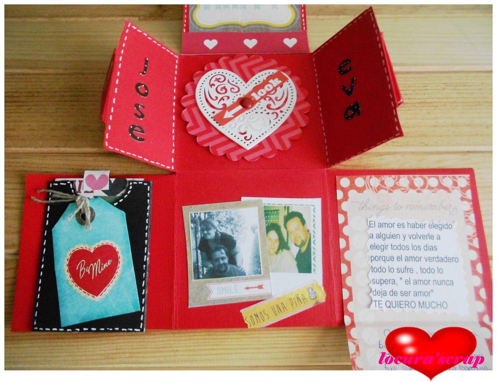 Locura Scrap Mi Blog Tarjetas De Amor Hechas A Mano