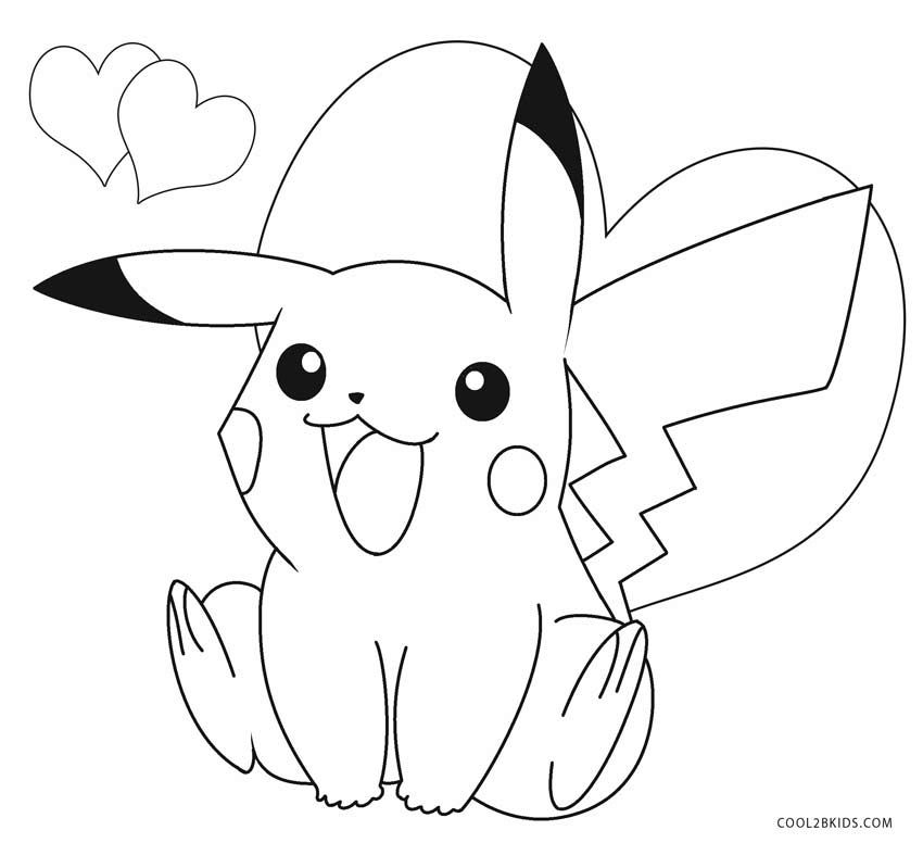 Printable Pikachu Coloring Pages For Kids Cool2bkids Pikachu Coloring Page Pokemon Coloring Pages Cartoon Coloring Pages