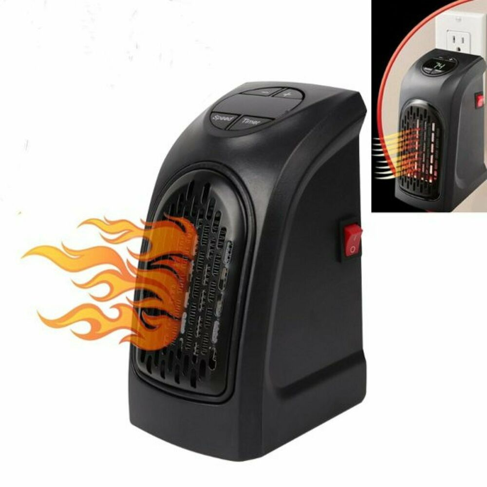 Handy Electric Space Heater Wall Outlet Air Warmer 350w Plug In