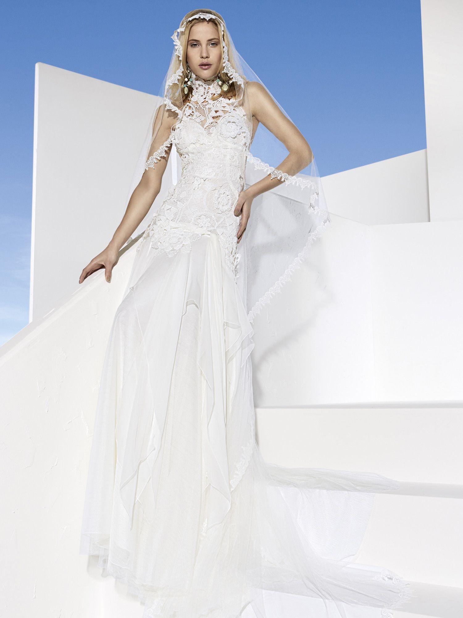 Yolancris boho chic wedding dress this ibiza style bridal gown is