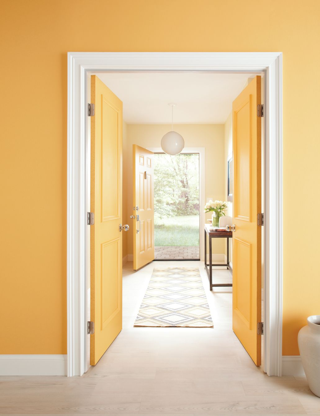 "Pale Orange Paint paint color ""pale daffodil"" makes an entrance. try incorporating a"