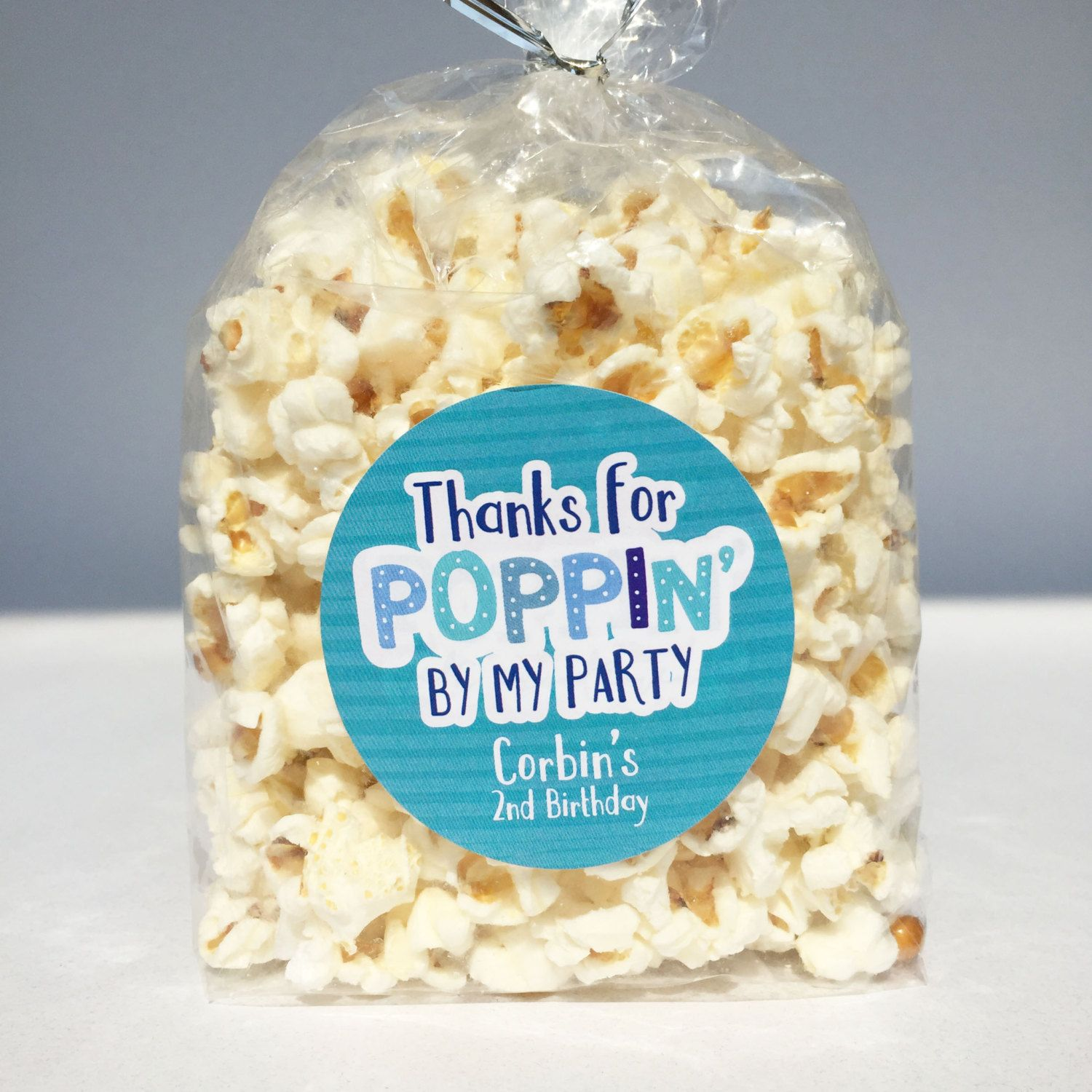 thanks for poppin by birthday party favors popcorn favors thank