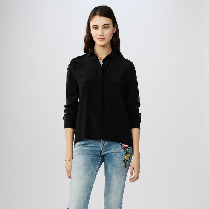 d9108cfb97624 CELA Silk blouse - Tops   T-Shirts - Maje.com