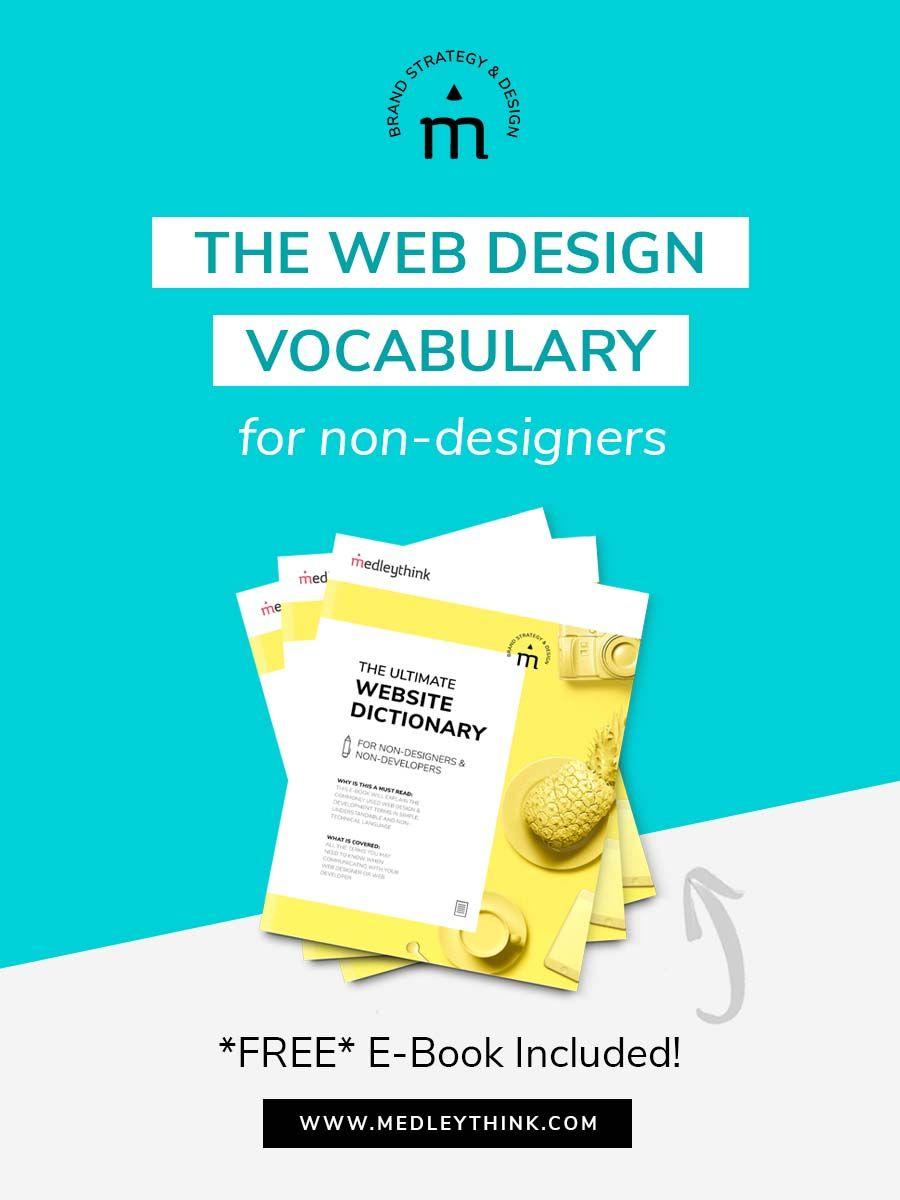 Learn To Speak Web Design Lingo Vocabulary For Non Designers Web Design Web Development Vocabulary