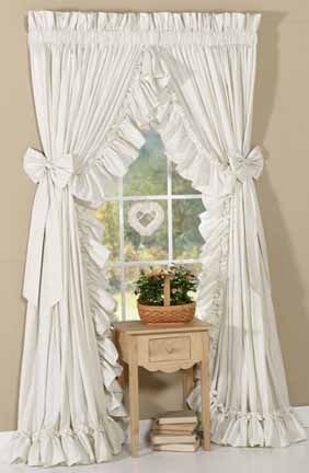 style country curtain ideas | Welcome to Straw and Feathers -- Your source for ruffled ...