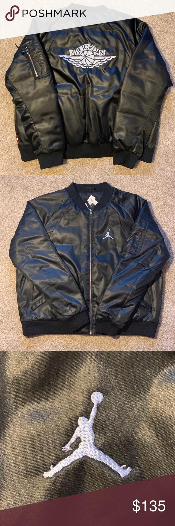 Nike Air Jordan Wings Bomber Jacket Black Xl Black Bomber Jacket All Black Fashion Bomber Jacket [ 1740 x 580 Pixel ]