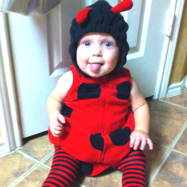 Emmy in her Halloween costume. I found the ladybug at Carters. Sheu0027s the Love  sc 1 st  Pinterest & Emmy in her Halloween costume. I found the ladybug at Carters. Sheu0027s ...