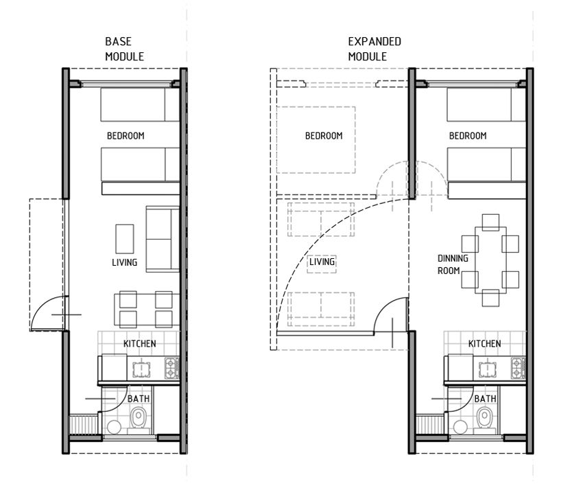 4l Arq Improves Social Housing With Transportable Modules Social Housing Small House Plans Modular Housing