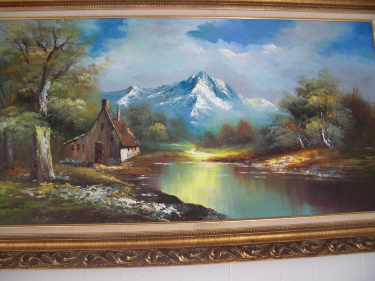 beautiful landscape paintings vintage g whitman