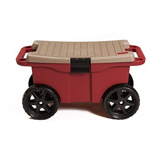 The Ultimate Storage Seat On Wheels Wheeled Seat With Large Internal  Storage Compartment Side Holes For