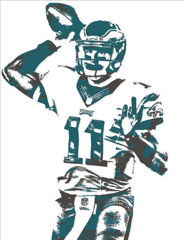 Carson Wentz Philadelphia Eagles Pixel Art 6 Art Print By Joe Hamilton In 2021 Philadelphia Eagles Philadelphia Eagles Wallpaper Eagles Football