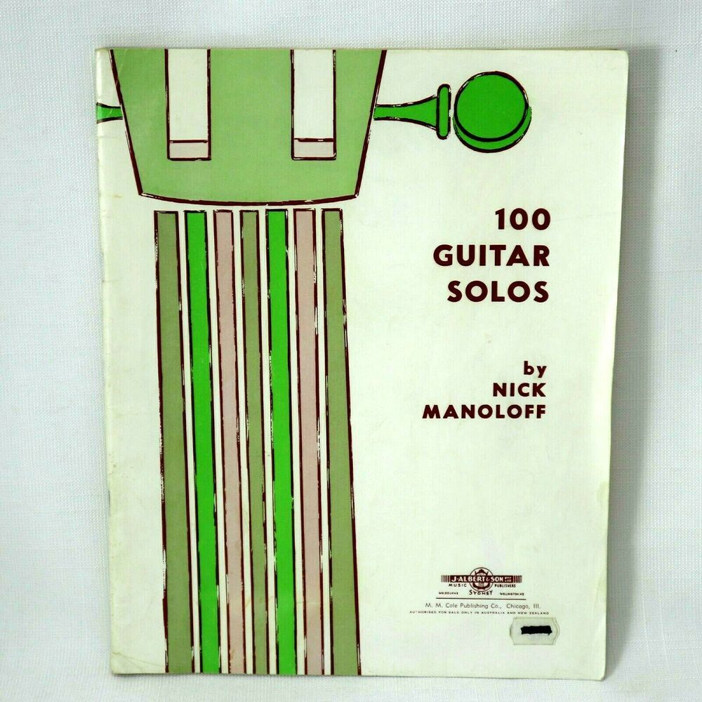 Guitar 100 Solos Nick Manoloff 1962 Collectable Sheet Music Book