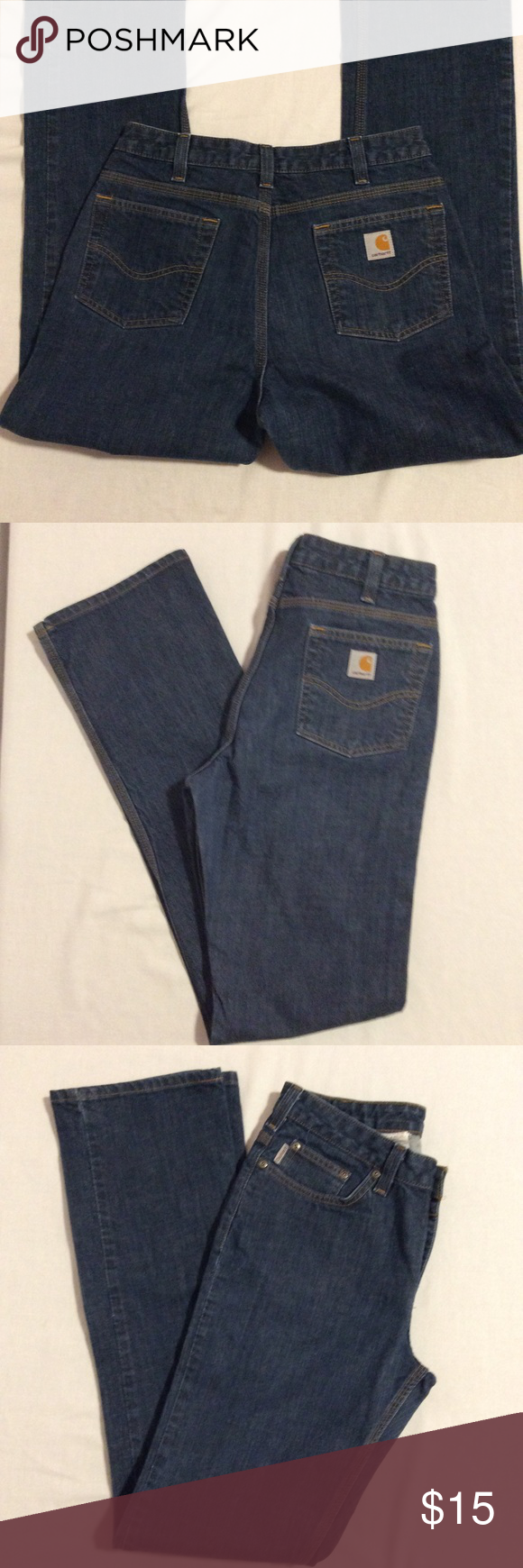Carhartt Women's Traditional Fit  Jeans 10 x 36 Carhartt Women's Traditional Fit Jeans. Gently used. 99% cotton 1% spandex Size 10 x 36 Carhartt Jeans Straight Leg #carharttwomen Carhartt Women's Traditional Fit  Jeans 10 x 36 Carhartt Women's Traditional Fit Jeans. Gently used. 99% cotton 1% spandex Size 10 x 36 Carhartt Jeans Straight Leg #carharttwomen