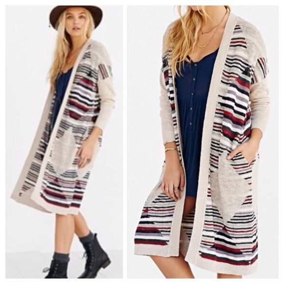 Urban Outfitters Open Long Cozy Maxi Cardigan NWT | Long duster ...