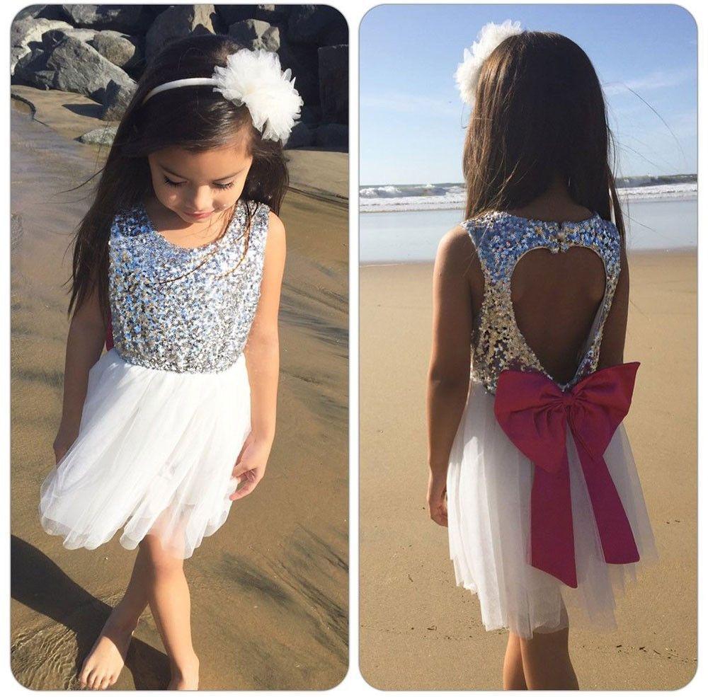 Summer Sequins Formal Love Backless Tutu Dress Womens Fashion