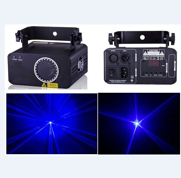 500mW 450nm Blue Stage Laser Light Projector DJ Disco Party Show Beam Laser DMX…