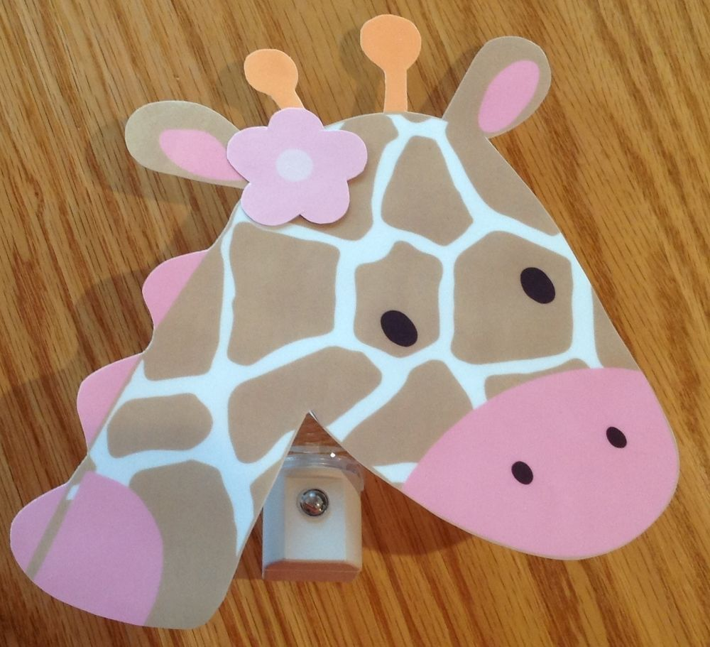 Night lights nursery - Jungle Jill Pink Giraffe Nursery Night Light Adorable Hand Crafted In Baby