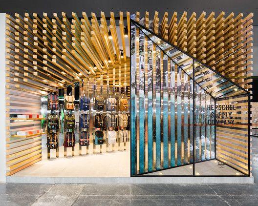Pop Up Structure For Herschel Supply Linehouse Retail Store Design Shop Facade Store Design