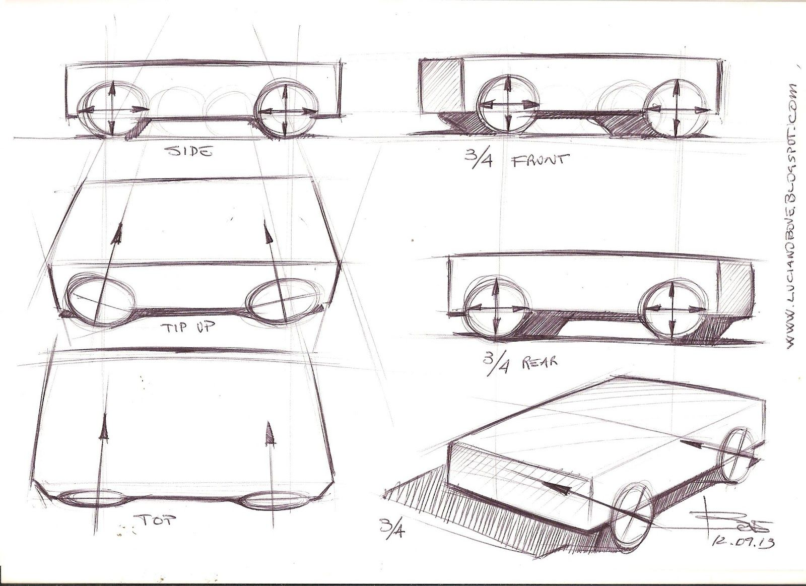 Car drawing tips by Luciano Bove | Car Design Education Tips ...
