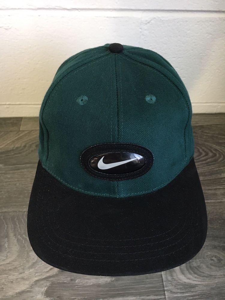 a8b33bfe4b6 Nike Bubble Swoosh Hat Vtg 90s X BSA Strapback Rare Green Cap  Nike   BaseballCap