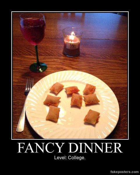 Fancy Dinner - Demotivational Poster
