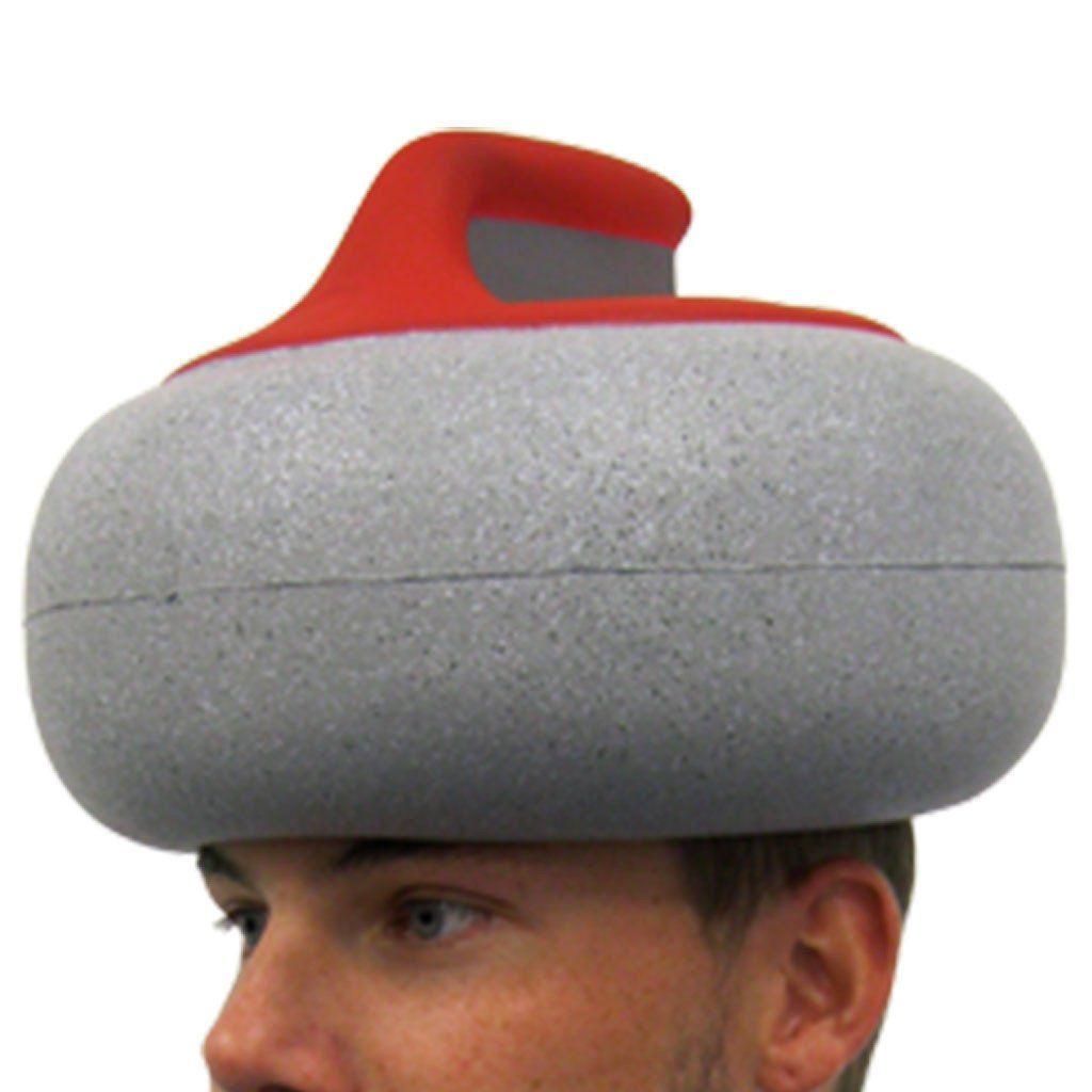 Curling Canada Stone Foam Hat Gift Set Curling Stone Curling Canada Gift Set