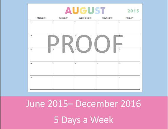 teacher calendar printable 5 days a week on this monthly calendar – Teacher Calendar Template