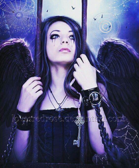 #angel #Black #darkness #dark #beauty