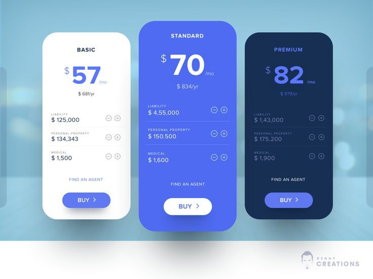 Pricing Table Design clean n simple typography ui app design - #AppDesignGame #AppDesignMedical #AppDesignModern #interfacedesign