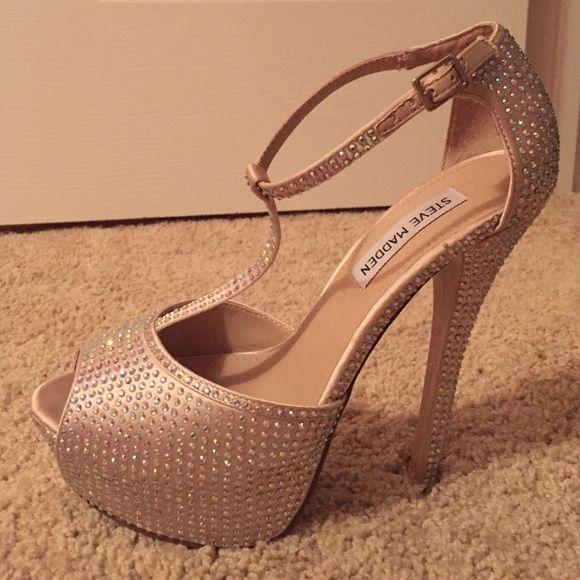 STEVE MADDEN stilettos Steve Madden sparkle stilettos. Worn twice Steve Madden Shoes Heels