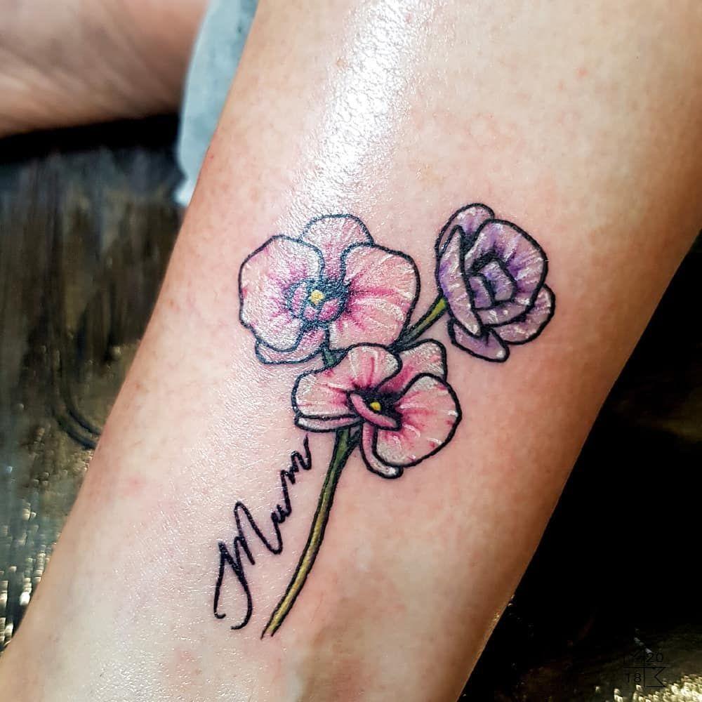 effbb38e88b3d Cute little floral piece by Sam! #tattoo #tattoolife #tattooartist #art  #artist #tattooer #flowertattoo #flowers #freesias #gardening #mumtattoo ...