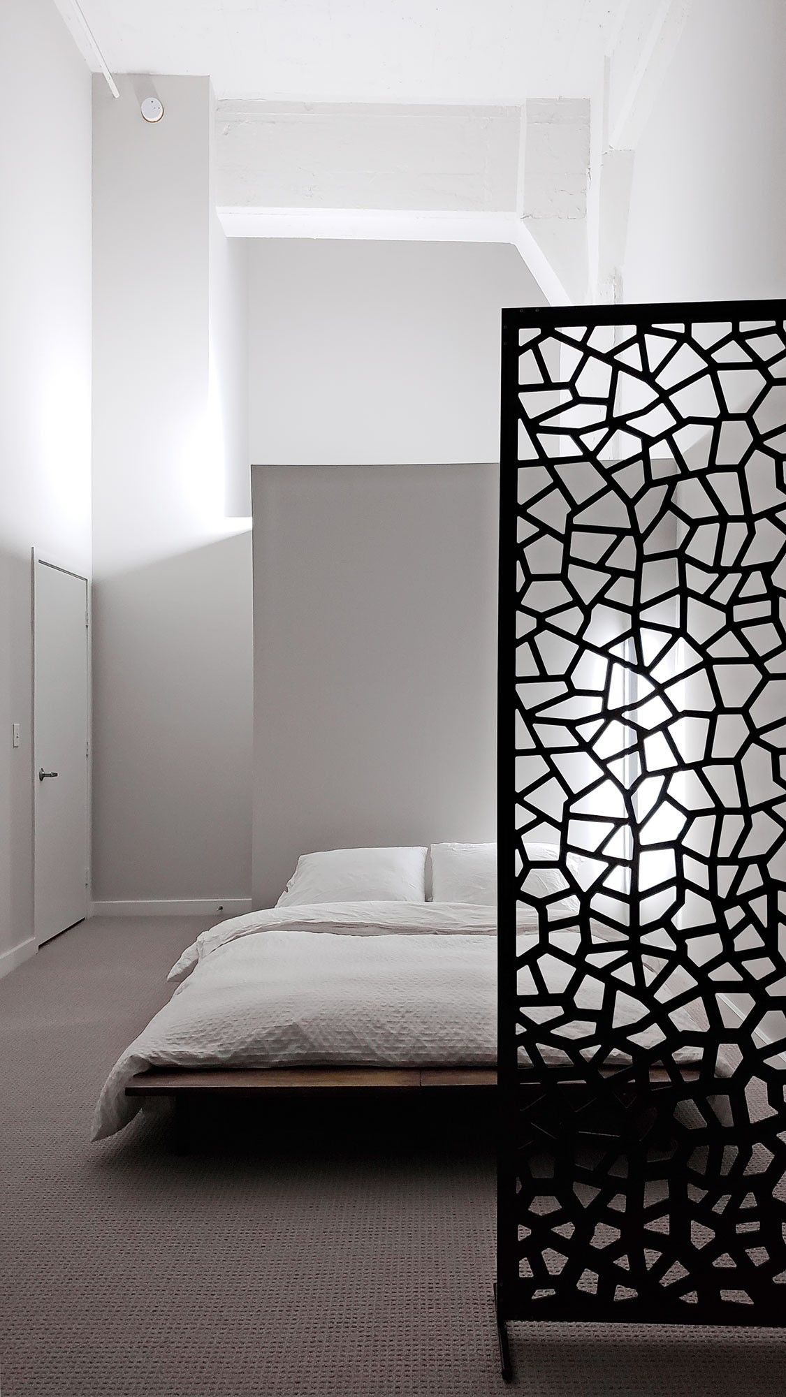Decorative Screen Room Dividers Custom Made To Order Single Layer Pvc Panel Web Pattern Black Roo Room Decor Bedroom Partition Design Screen Room Divider