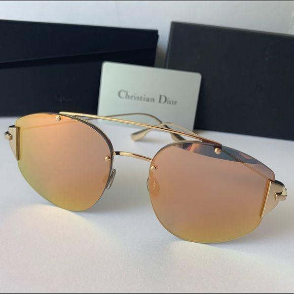 2c7fc396a999e Christian Dior Stronger Rose Gold Mirror J5G OJ Christian Dior Stronger  Sunglasses Gold Grey Rose Gold