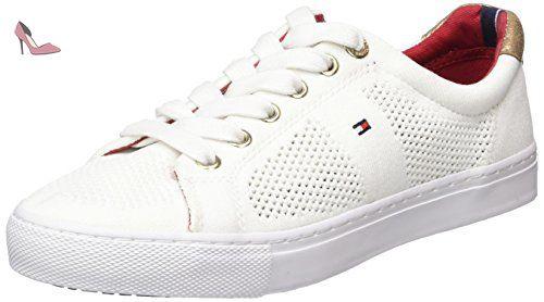 Tommy Hilfiger V1285ALI 2C, Sneakers Basses femme Blanc