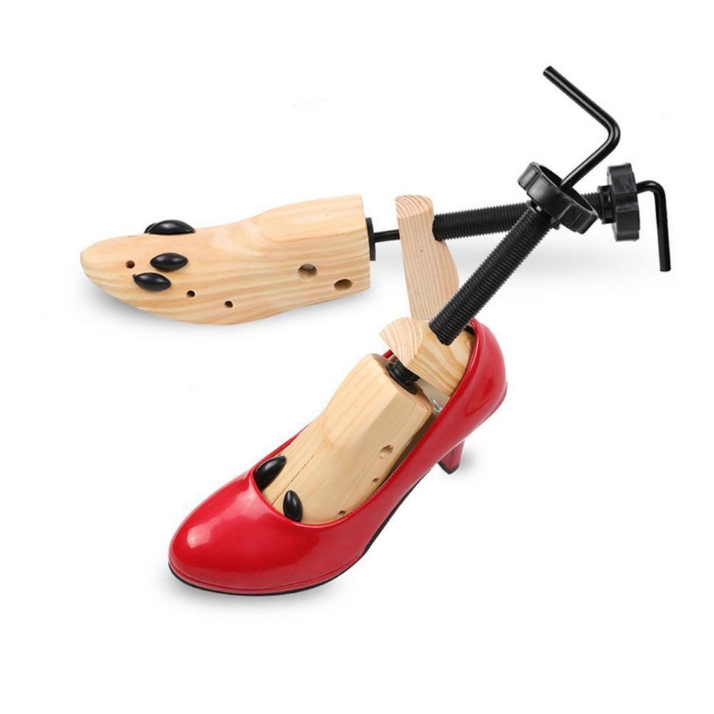 Unisex Men Women Adjustable Wooden Shoe Stretcher Tree Shoe Expander Shaper