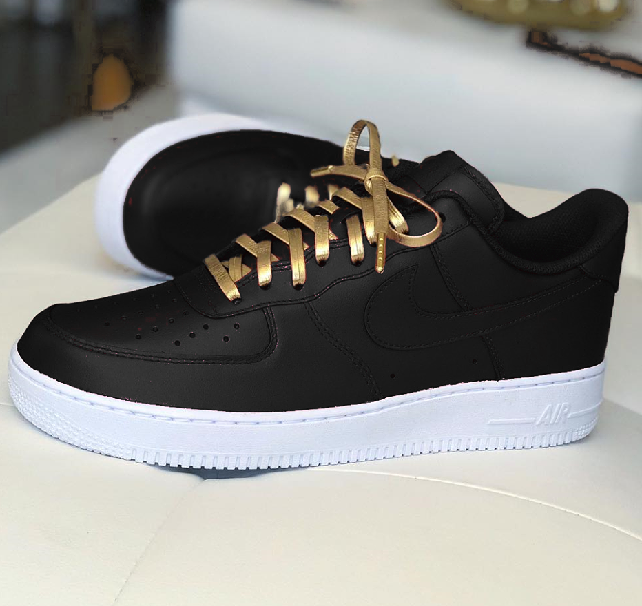 5dfe4559e37e3 Nike Air Force 1 Black Custom Sneaker Running Shoes For Men