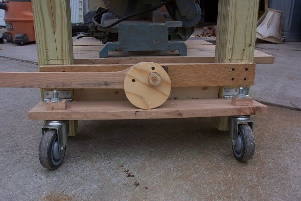 The Levers Turn A Cam That Pushes Down On The Caster Board The
