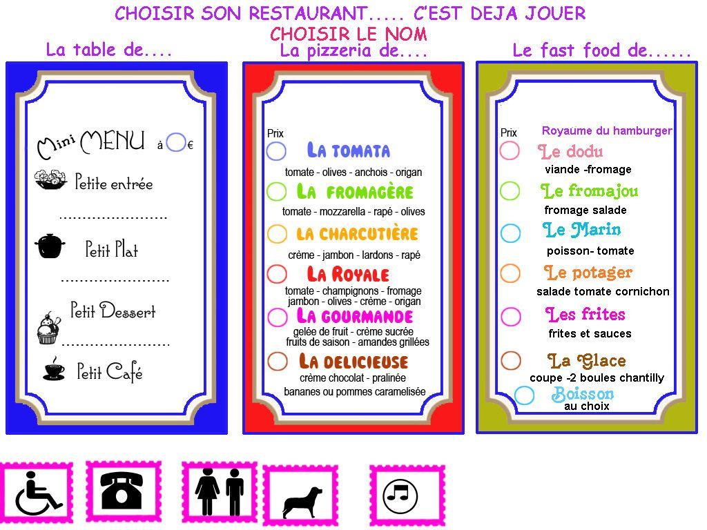 On Joue A Quoi Au Petit Restaurant 1 Et 2 Et 3 Doudous Patrons Patterns Gabarits Fete A Themes Pour Enfants Jeu De Restaurant Petits Restaurants Restaurant