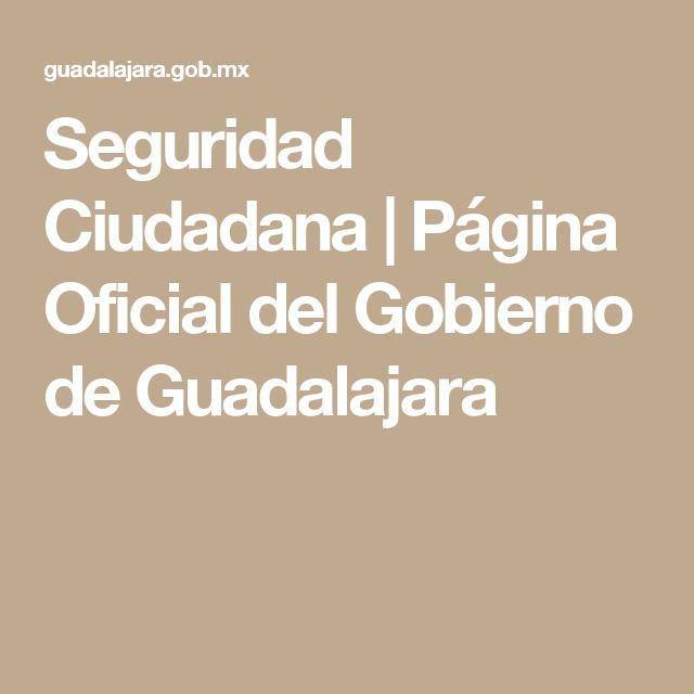 Seguridad Ciudadana Página Oficial Del Gobierno De