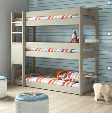 Kids Bedroom 3 Tier Triple Bunk Bed Modern Kids Beds Other