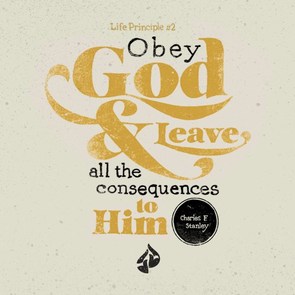 Image result for obey god and leave all the consequences to him