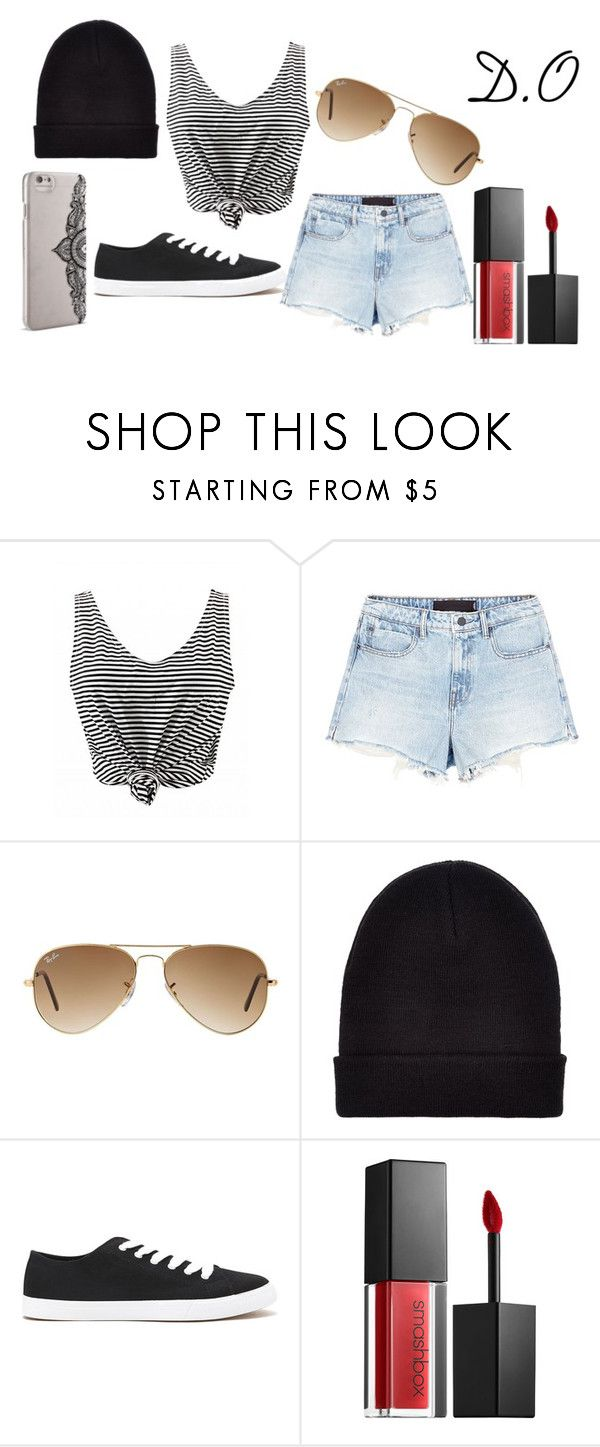 """""""Traveling with EXO's D.O"""" by minanna ❤ liked on Polyvore featuring Alexander Wang, Ray-Ban, New Look, Forever 21, Smashbox and Nanette Lepore"""