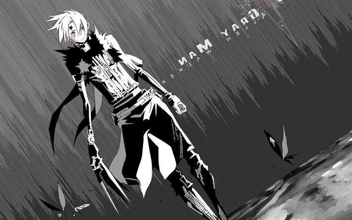 Download Wallpapers Allen Walker Monochrome Manga D Gray Man