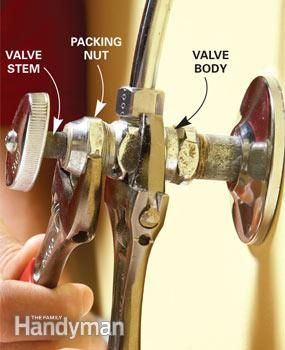 Fix A Leaky Shut Off Valve Home Repair Diy Home Repair Plumbing