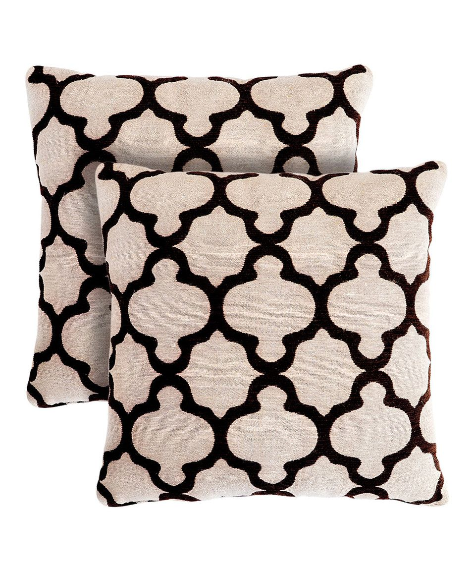 This Tan Chantilly Throw Pillow - Set of Two by Pegasus Home Fashions is perfect! #zulilyfinds
