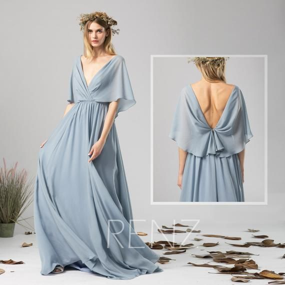 Simple Wedding Dress For Godmother: Beach Wedding Dress White Chiffon Evening Dress Long