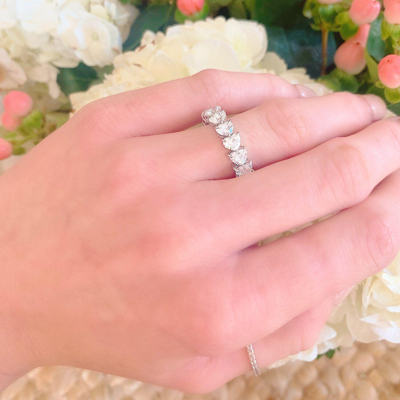 The perfect wedding band or push present   #pushpresent #hearts #diamond #diamondring #weddingband #engagement #engagementring #diamondaupair