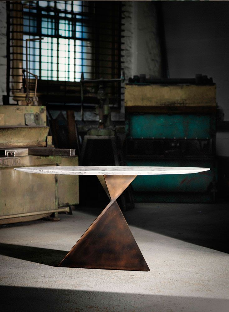 Ava Dining Table In Bronze, With #marble Top. Great Ideas